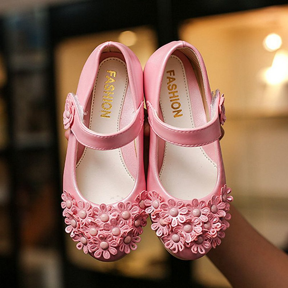 CYBLING Toddler Little Girls Princess Dress Shoes Flowers Ballet Flats Casual Mary Jane