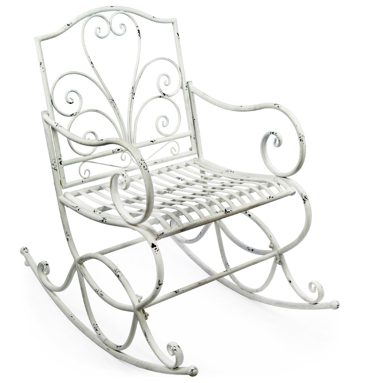Sedia a dondolo in ferro per terrazza o giardino decorativo con funzione HLine