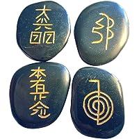 4piedra turmalina Negro con Reiki símbolos