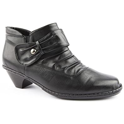 ed6c5386d44c Ladies Caravelle Wide Fit Wymer Black Ankle Boots Size 8  Amazon.co ...