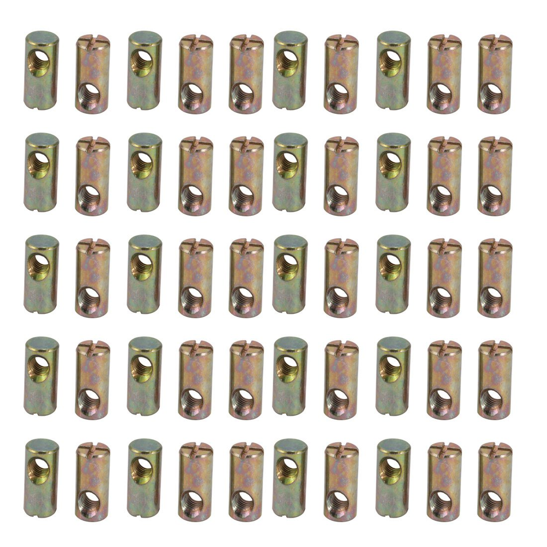 uxcell 40pcs M6 Thread Dia 22mm Length Iron Phillips Drive Cross Dowel Barrel Nut by uxcell