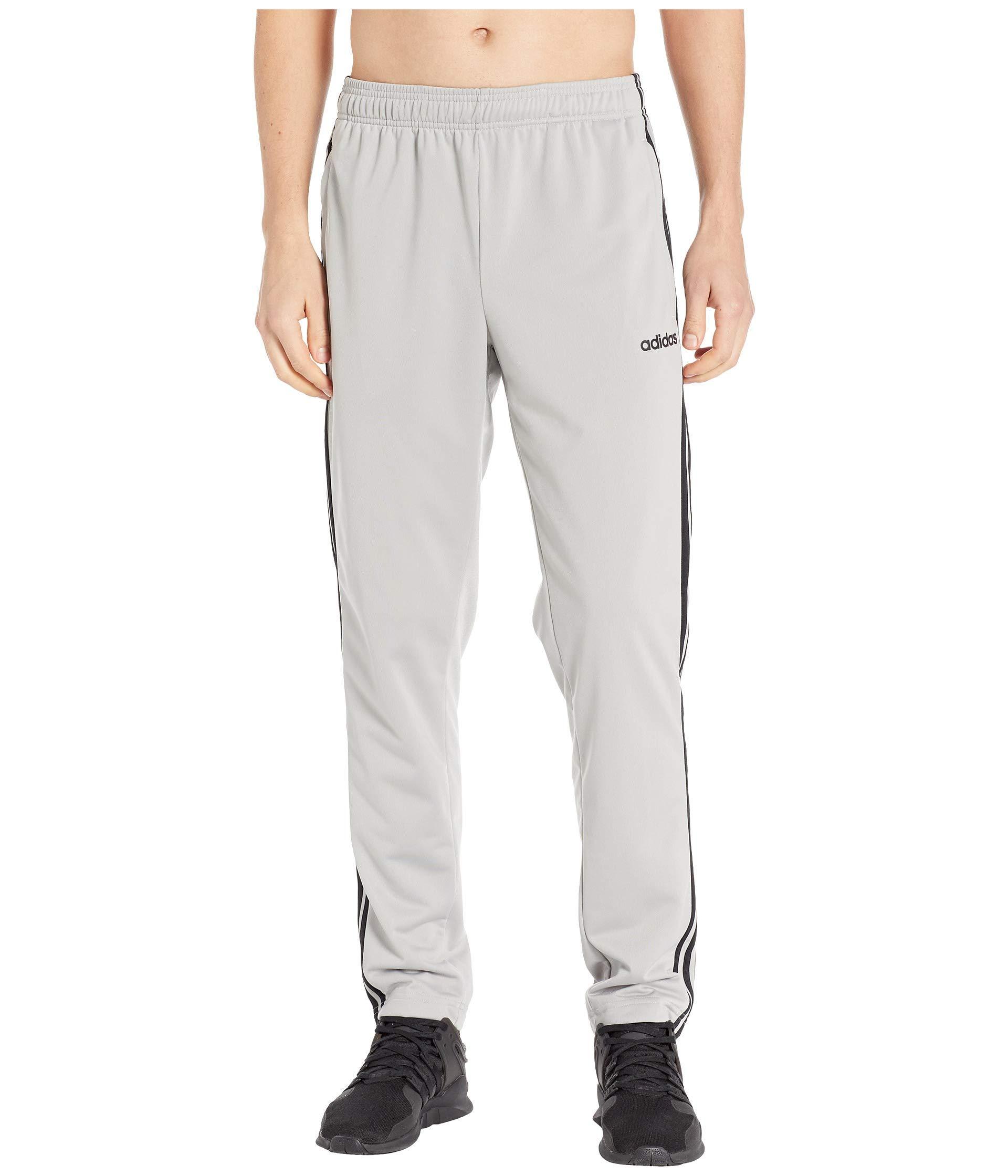 adidas Men's Essentials 3-Stripe Tricot Pant Tapered Medium Grey Heather/Black X-Large 32 by adidas