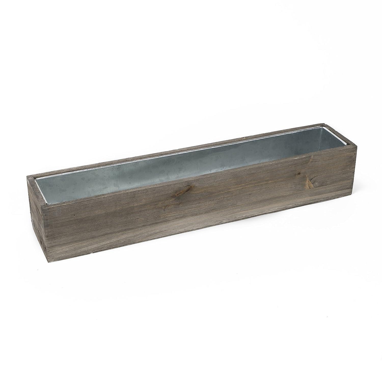 "CYS Excel Rustic Planter Box, 15 Sizes Available, Wood Planter, Decorative Box, Succulent and Floral Arrangements, Window Box with Removable Liner, Wedding DÉCOR H:4"" Open:28x4"""