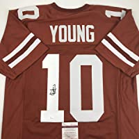 $99 » Autographed/Signed Vince Young Texas Orange College Football Jersey JSA COA