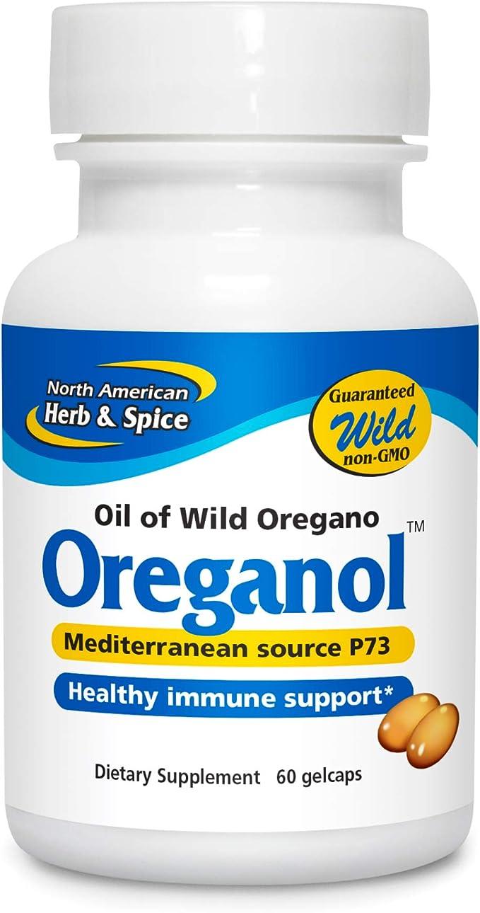 North American Herb Spice Oreganol P73 60 Gelcaps Immune System Support Unprocessed Vegan Friendly Wild Oregano Mediterranean Source Non Gmo 60 Servings Health Personal Care