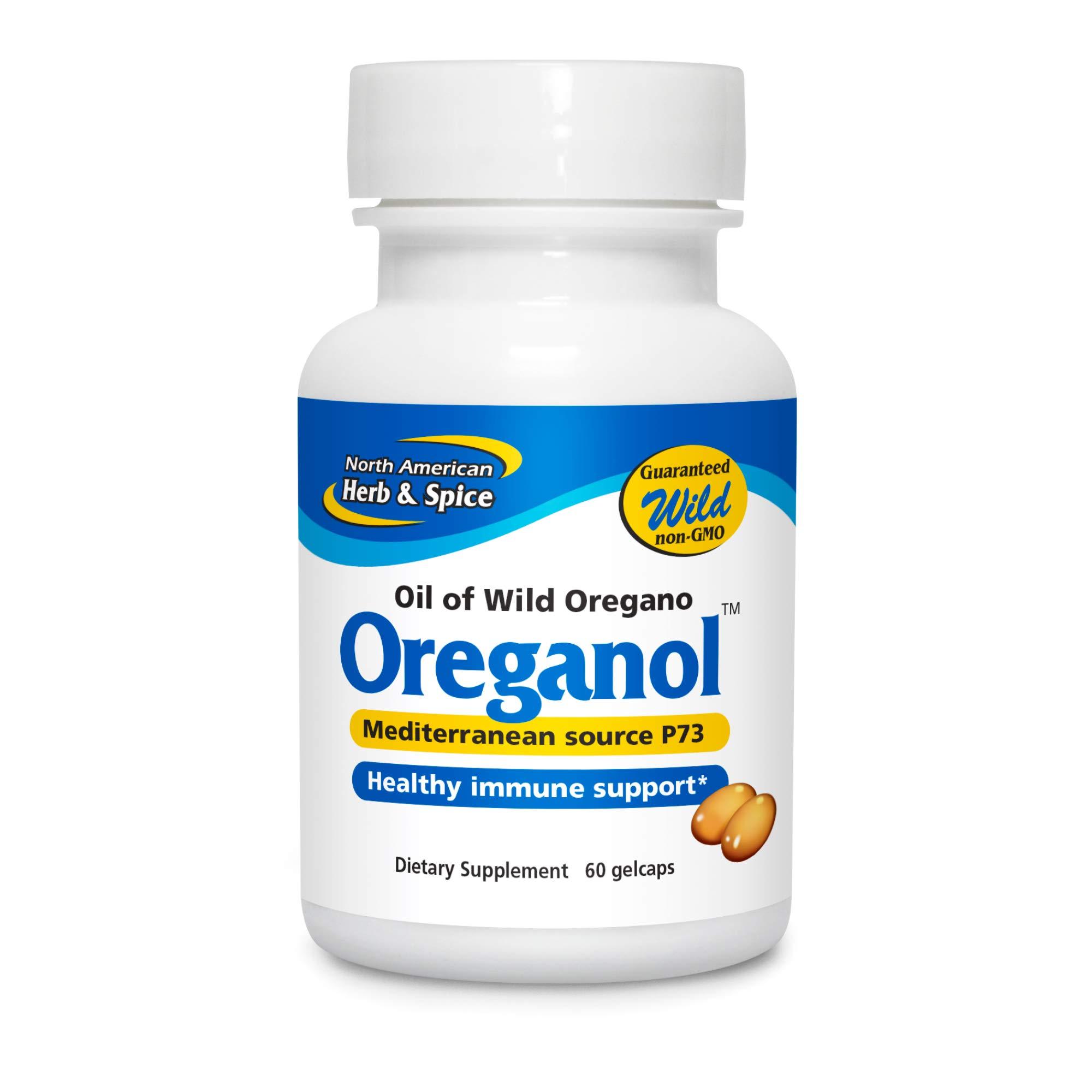 North American Herb & Spice Oreganol P73-60 Gelcaps - Immune System Support - Unprocessed, Vegan Friendly Wild Oregano - Mediterranean Source - Non-GMO - 60 Servings