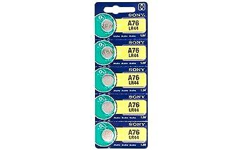 Amazon.com: 5 Pack Sony LR44 A76 – Batería AG13 pilas ...