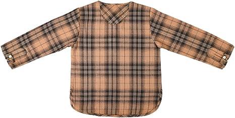 Camisa liquette niño Robinson marrón cuadros marrón marrón Talla:10 ans: Amazon.es: Bebé