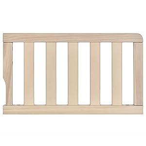 Dream On Me Universal Convertible Crib Toddler Guard Rail, Vintage White Oak