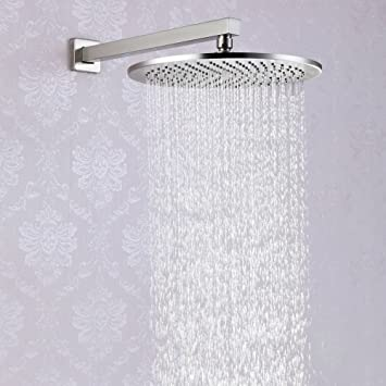 100 All Metal 12 Inch Rain Shower Head With 25 Gpm High Pressure