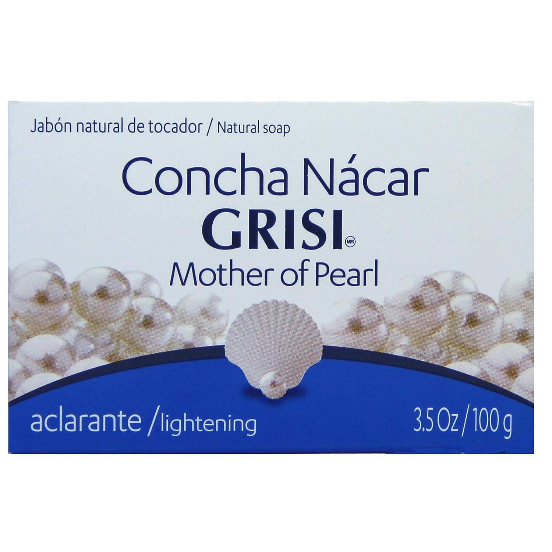 Amazon.com : Grisi Mother of Pearl Soap - Jabon Concha Nácar 3.5 Oz. : Bath Soaps : Beauty