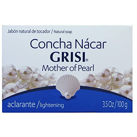 Amazon.com : Grisi Mother of Pearl Soap - Jabon Concha Nácar 3.5 Oz. : Bath Soaps : Beauty