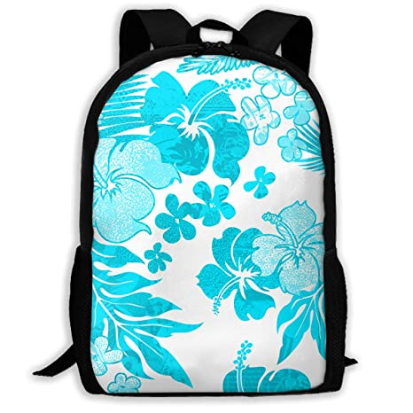 02bebf457fb2 Amazon.com: UYILP Aqua Watercolor Flora Adult Premium Travel ...