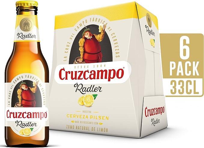 Cruzcampo Radler Limon Cerveza - Pack de 6 Botellas x 250 ml - Total: 1.5 L: Amazon.es: Alimentación y bebidas
