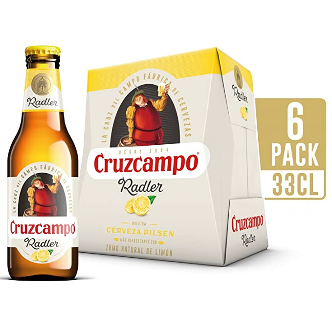 Cruzcampo Radler Limon Cerveza - Pack de 6 Botellas x 250 ml - Total: 1.5 L: Amazon.es: Amazon Pantry