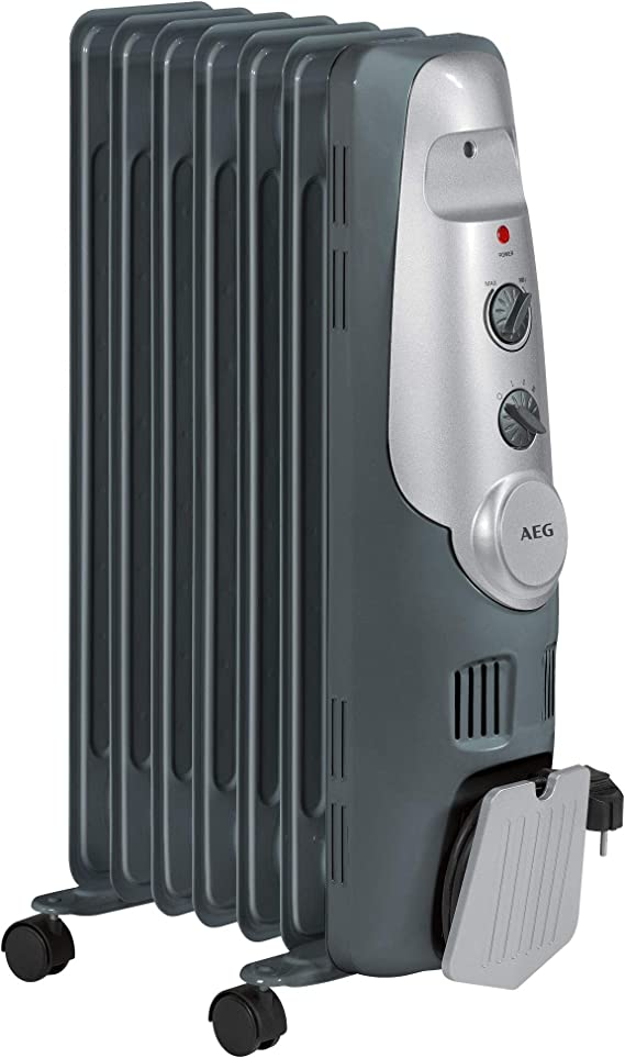 AEG RA 5520 - Radiador de aceite, 1500 W, 7 elementos, termostato, 3 niveles de potencia: Amazon.es: Hogar
