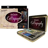 Mont Marte Calligraphy Set, 33 Piece. Includes Calligraphy Pens, Calligraphy Nibs, Ink Cartridges, Introduction Booklet and Exercise Booklet.