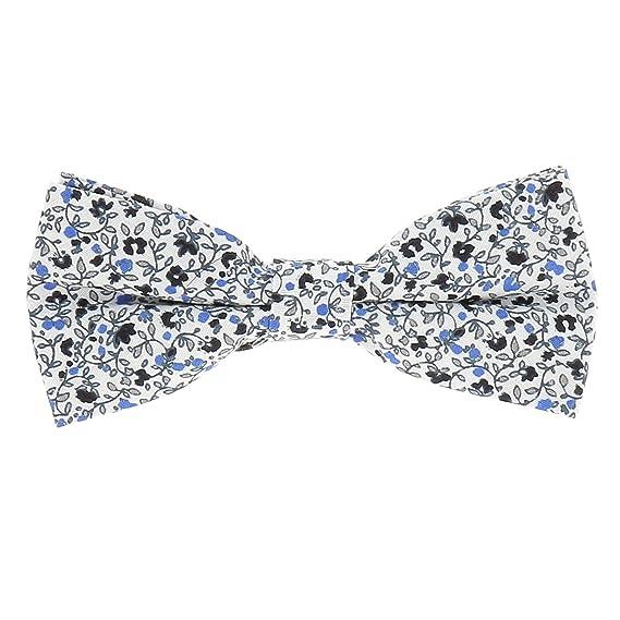 186ee6887d8ae cravateSlim Noeud Papillon Liberty bleu - Noeud Papillon Fleurs ...