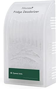 FO2RREST Fridge Deodorizer Refrigerator Odor Eliminator-Natural Fridge Odor Remover, Scentless Refrigerator Air Fresheners, Active Silica Smell Absorber - Outperforms Baking Soda