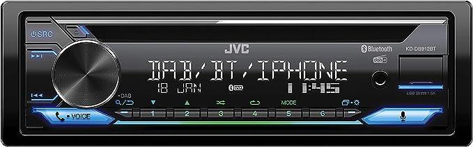 Jvc Kd Db912bt Cd Car Radio With Dab Bluetooth Hands Free Kit Alexa Built In Sound Processor Usb Aux In Spotify Control 4 X 50 Watt Var Lighting Dab Antenna Navigation Car Hifi