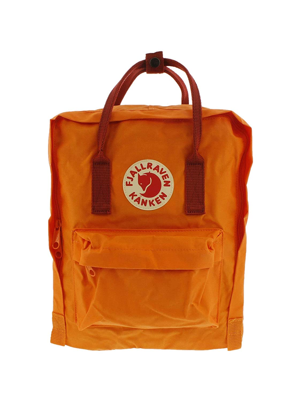 Burnt orange Deep Red One Size Fjallraven Kanken Backpack