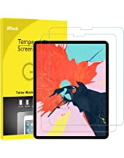 JETech 2-Pack Screen Protector for iPad Pro 12.9-Inch (2018 Release Edge to Edge Liquid Retina Display), Face ID Compatible, Tempered Glass Film