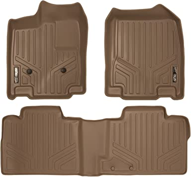 MAXLINER Floor Mats 2nd Row Liner Tan for 2007-2014 Ford Edge 2011-2015 Lincoln MKX