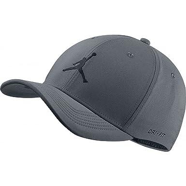 8d195447 NIKE Mens Jordan Jumpman CL99 Woven Hat (Cool Grey/Black, Medium/Large