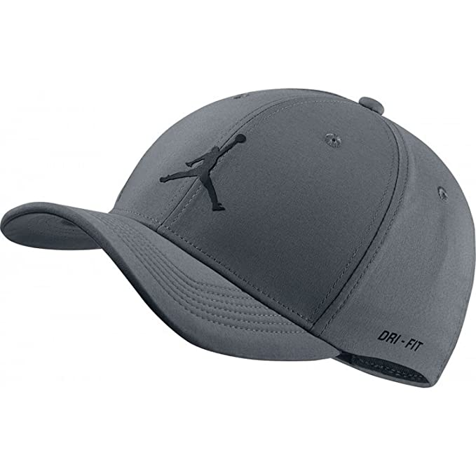 d08c3bf1dba68 ... amazon nike mens jordan jumpman cl99 woven hat cool grey black medium  large 79eea 6854c