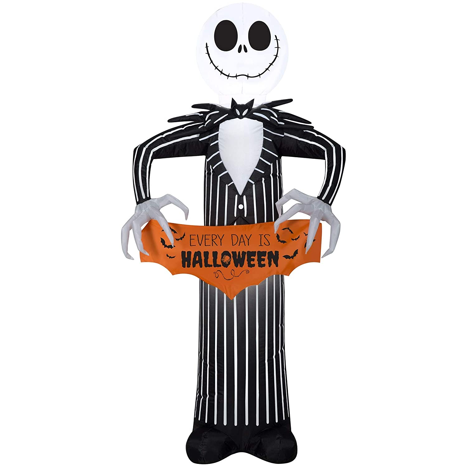 Halloween Inflatable Disney 5' Jack Skellington The Nightmare Before Christmas Airblown Decoration Gemmy