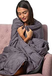 Dr. Hart's Weighted Blanket Deluxe Set | Patented ContourWave with Luxurious Microplush Removable Cover for Calming and Stress Relief | 20 lbs 60x80 | Heavy Comfortable Blanket for Adults