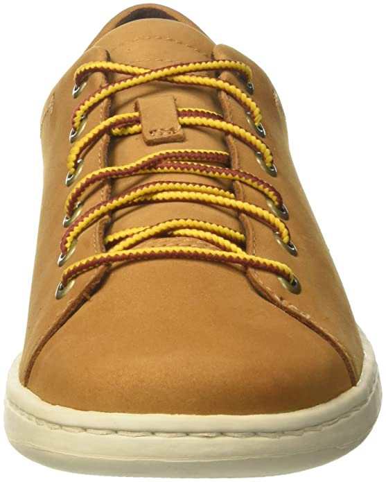 Timberland Courtside Leather, Zapatos de Cordones Oxford para Hombre, Amarillo (Wheat Nubuck 231), 43.5 EU