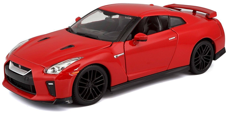 RED 2017 Nissan GT-R R35 Diecast Model Car By Bburago NEW 1:24 W//B BBURAGO PLUS COLLECTION