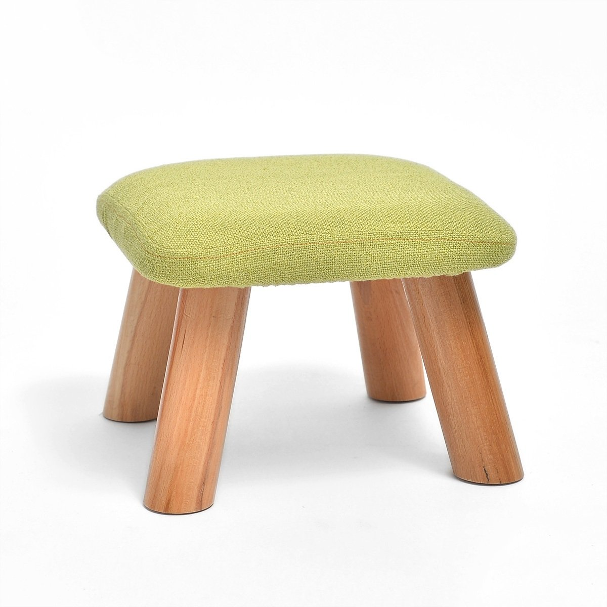 TLMY Fashion Creative Shoes Bench Solid Wood Coffee Table Stool Stool Stool Fabric Bench Children Sofa Bench Footstool Stool Chair (Color : Matcha)