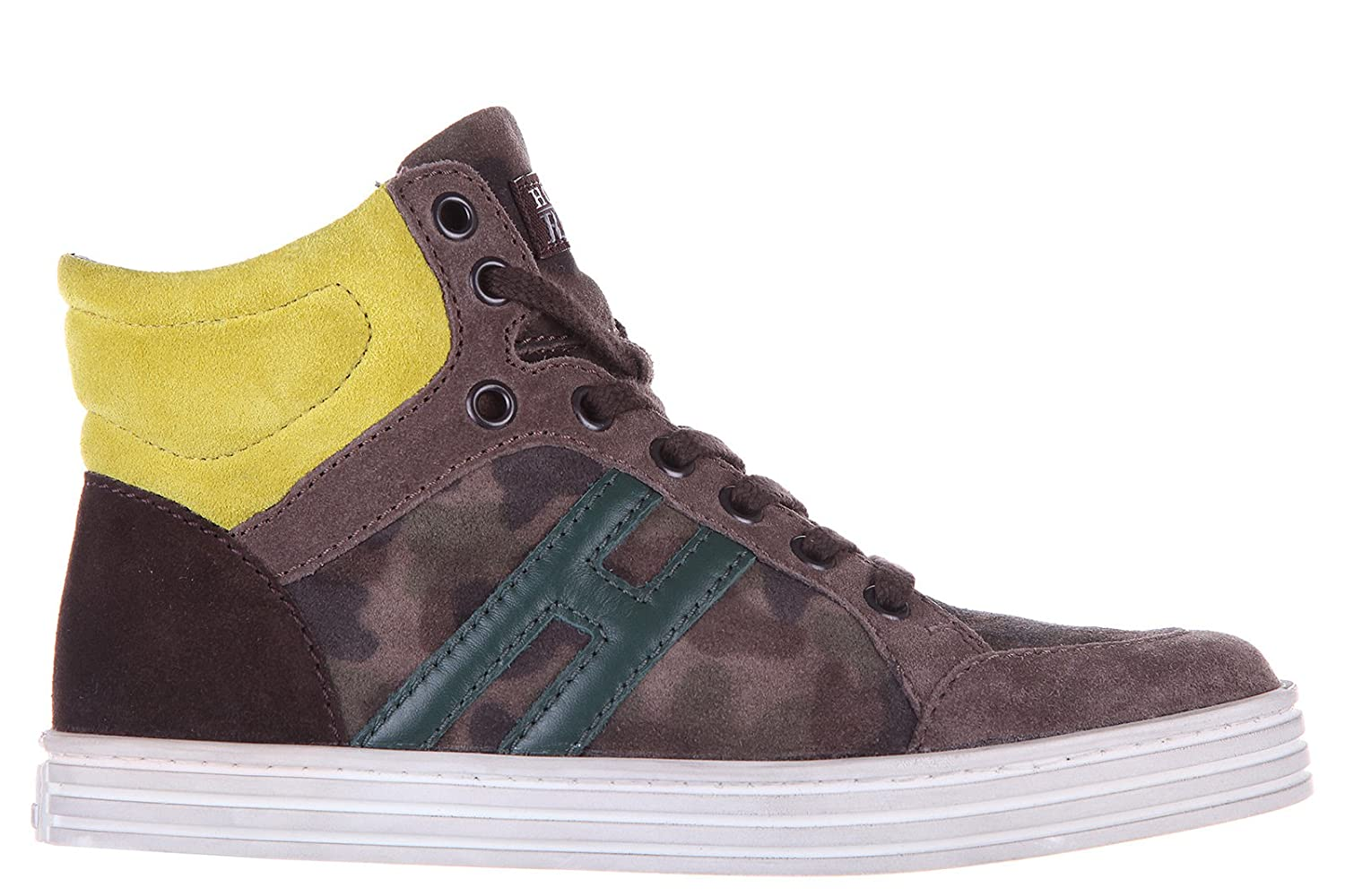 7afe12b22791d Hogan Rebel Boys Shoes Child Sneakers high top Suede Leather Rebel  Camouflage br: Amazon.co.uk: Shoes & Bags