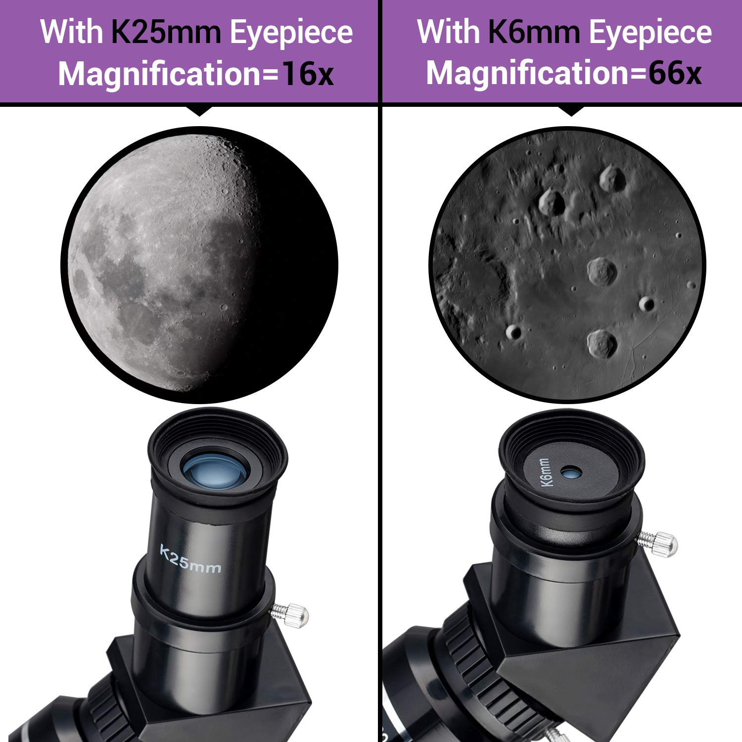 Smartphone Adapter MAXLAPTER Telescope for Kids Adults Astronomy Beginners Two Eyepieces Portable Travel Telescope with Tripod 70mm Aperture Refractor Telescope for Astronomy Backpack-Blue