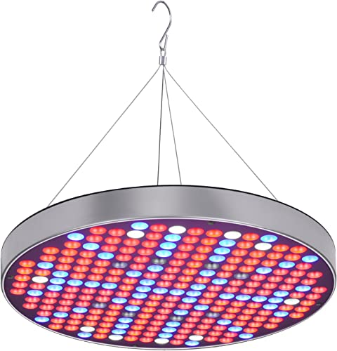 LED Grow Light for Indoor Plants, 65W Tri Head 198 LED Plant Grow Lights with Red Blue Warm White Full Spectrum, 9 Dimmable Levels, Auto ON Off 3 9 12H Timer, Adjustable Gooseneck, 4 Switch Modes