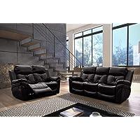 furniturestop.co.uk Fabrizio 3 + 2 Seater Sofa Set Recliner Leather