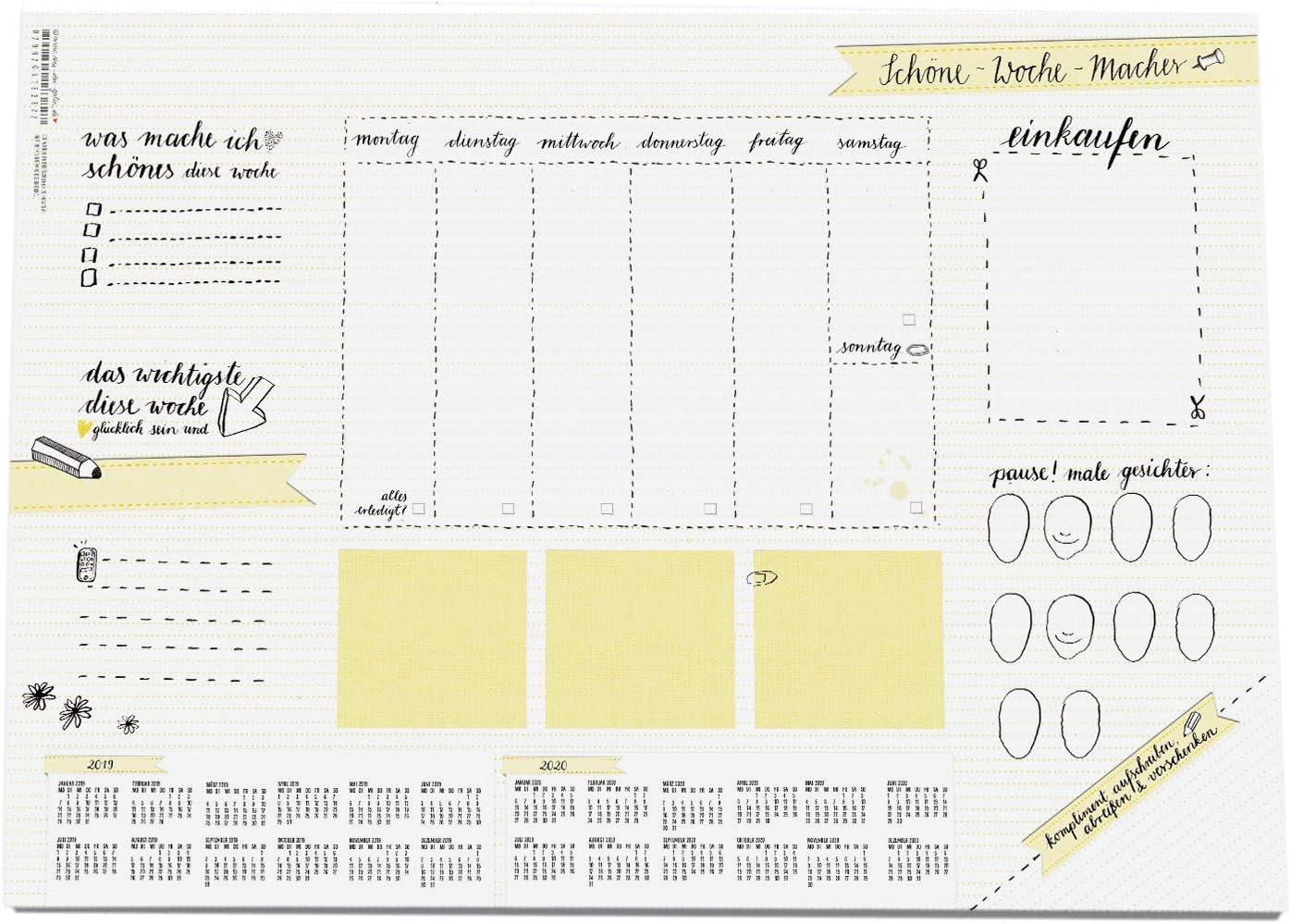 Schreibtischzubehör & Ablage A12 Schreibtischunterlage aus Papier ...