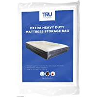 TRU Lite Mattress Storage Bag - Mattress Bag for Moving - Heavy Duty Extra Thick 4 Mil Plastic - Fits Standard, Extra Long, Pillow Top Sizes
