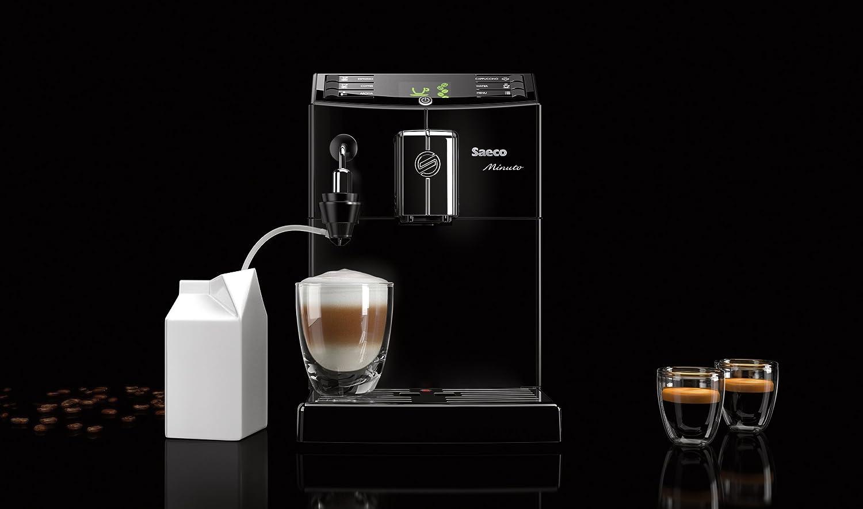 Philips Saeco Minuto - Cafetera automática espresso, con espumador de leche automático: Amazon.es: Hogar
