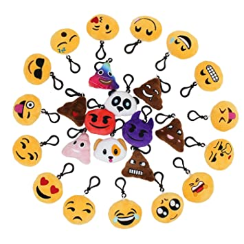 Emoticon Schlüsselanhänger Emoji Smiley Anhänger Mini Kissen Plüsch Luxus-accessoires