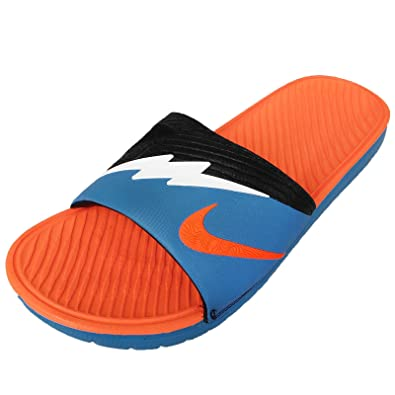 aae155e227d396 Nike Mens Solarsoft Kd Slide 2 Sandals VIVID BLUE WHITE-TTL ORANGE-BLACK 12  D(M) US  Amazon.in  Shoes   Handbags