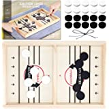 Toydaze Sling Foosball Fast Sling Puck Game with Extra 10 Pucks & 2 Slingshots for Spare Use, Portable Slingpuck Board Game f