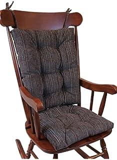The Gripper Non Slip Polar Jumbo Rocking Chair Cushions, Chocolate