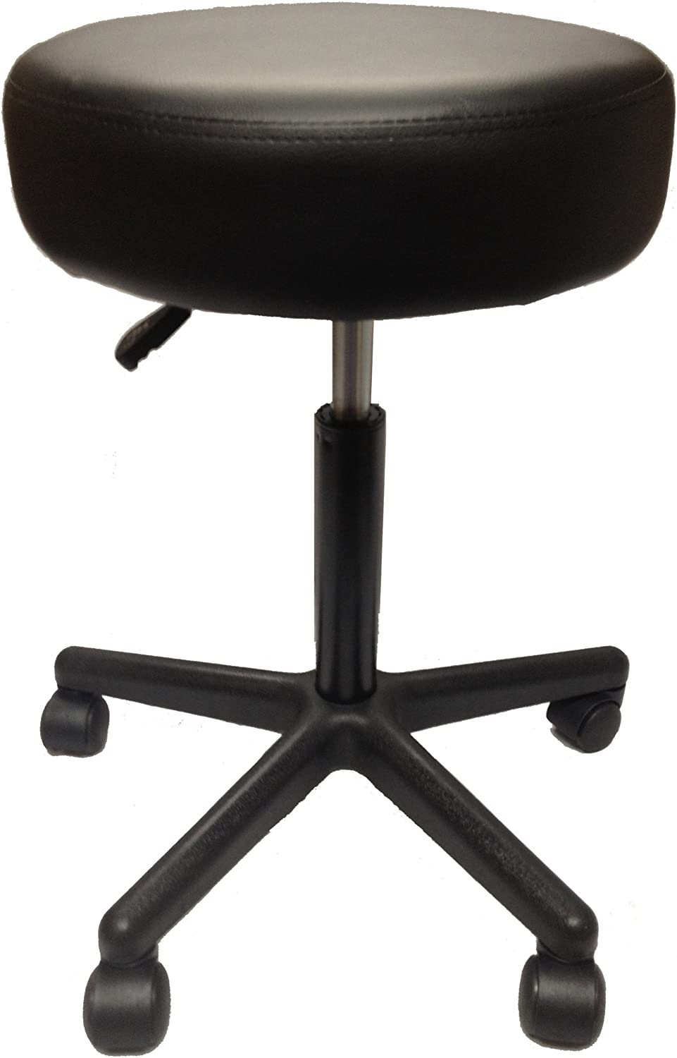 Clinical Health Services Adjustable Pneumatic Stool (Black) for Massage Tables, Examination Tables, Physician's Office by Therabuilt (Black)