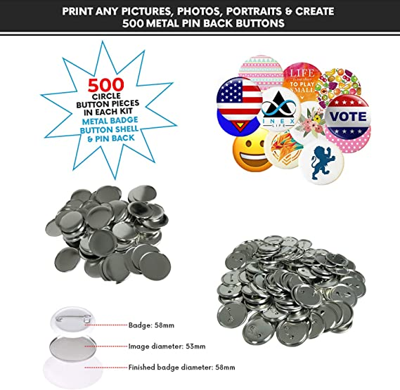 "100 Custom Personalised COMIC MOVIE PinBack Button Badge pinback 2.25/"" 58mm A101"
