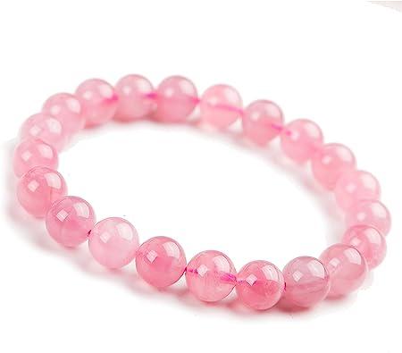 Genuine Rose Quartz Beaded Bracelet.Healing Crystal Jewelry Pink semi precious Gemstone BraceletUnique gift. Gift for her