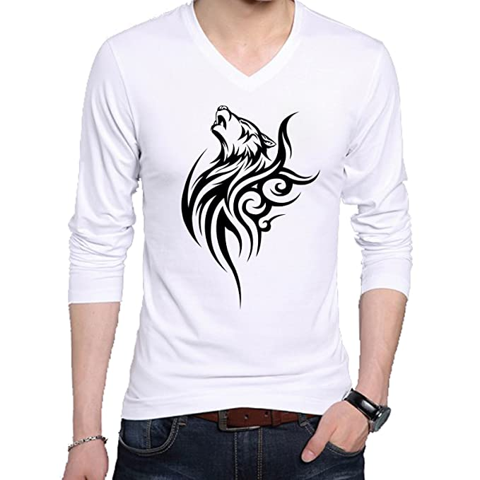 AAICO Men White Printed T-Shirt