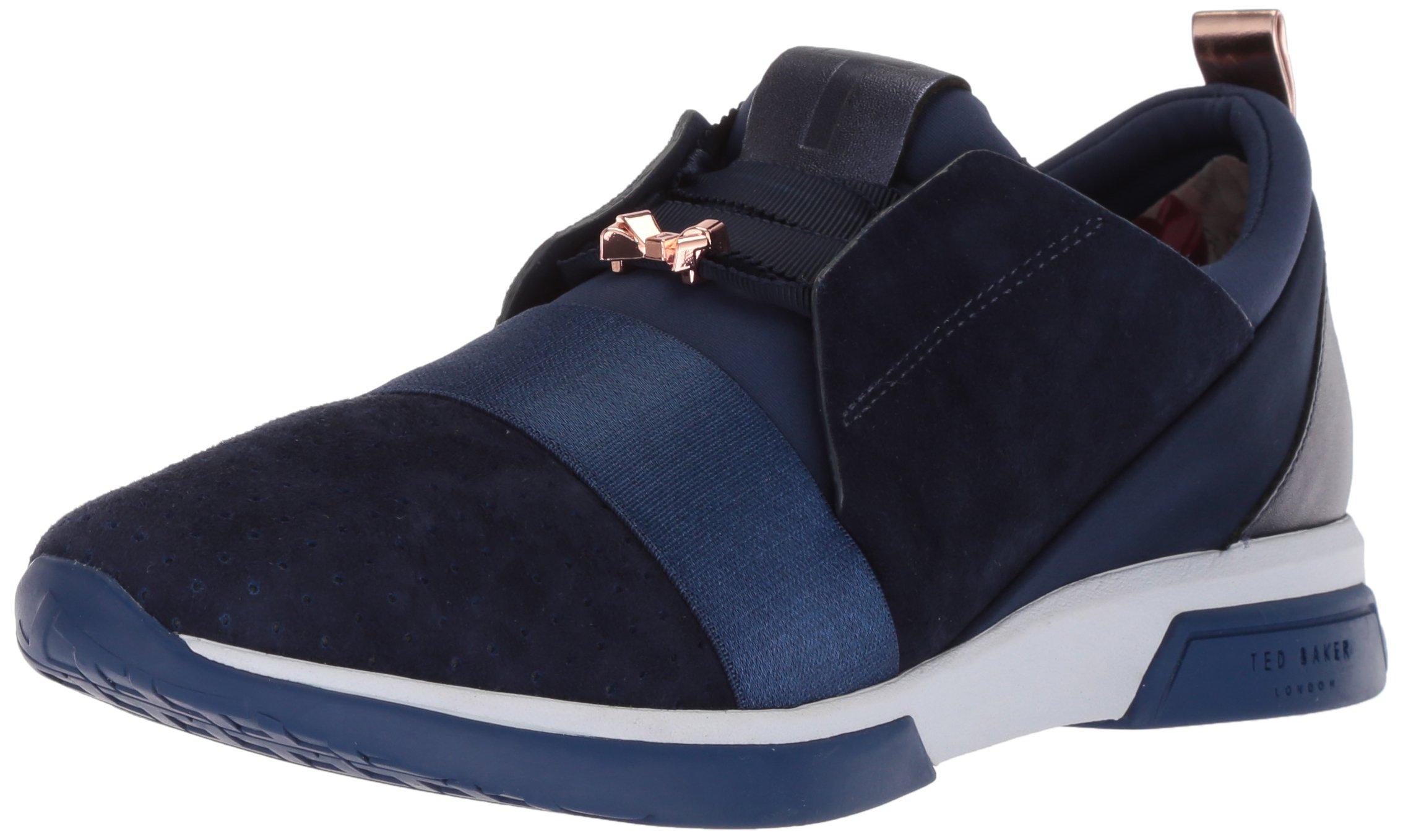 Ted Baker Women's Cepa Sneaker, Navy Suede, 8 B(M) US